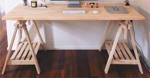 Mẫu bàn học gỗ cao su veneer nâng độ cao - VHL13